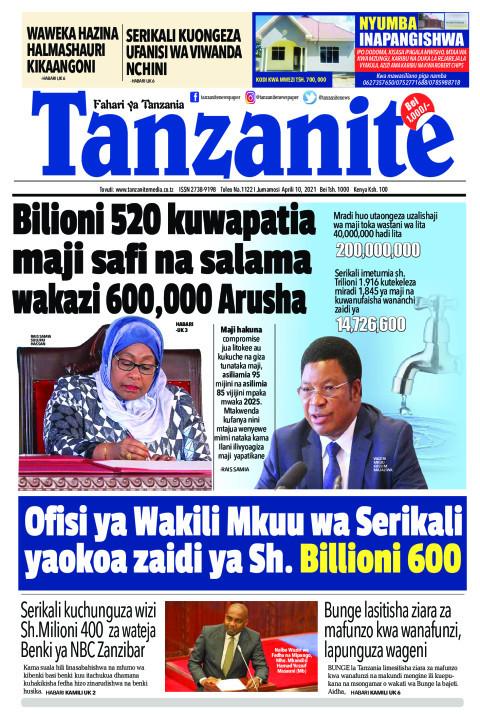 Bilioni 520 kuwapatia maji safi na salama wakazi 600,000 Aru | Tanzanite