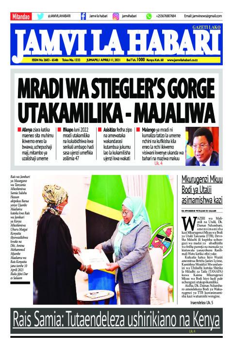 MRADI WA STIEGLER'S GORGE UTAKAMILIKA - MAJALIWA | Jamvi La Habari