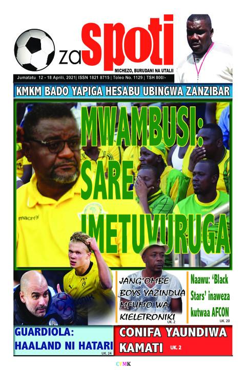 MWAMBUSI: WAMBUSI: SARE IMETUVURUGA | ZA SPOTI