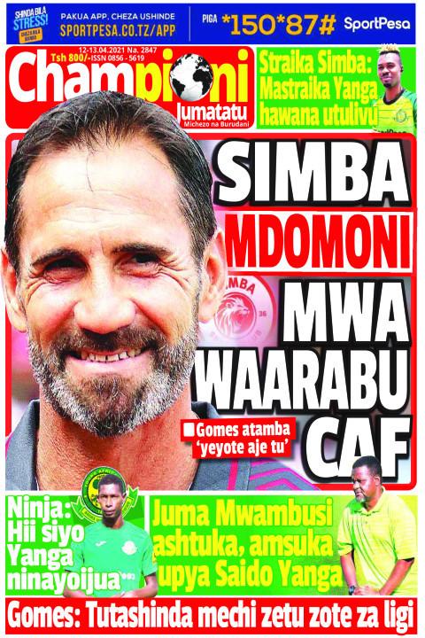 SIMBA MDOMONI MWA WAARABU CAF | Champion Jumatatu