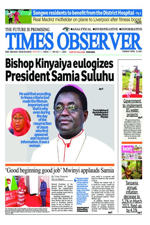 Bishop Kinyaiya eulogizes President Samia Suluhu | Times Observer