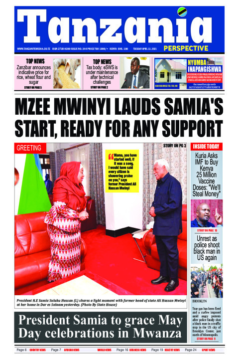 Mzee Mwinyi lauds Samia's start, ready for any support | Tanzania Perspective