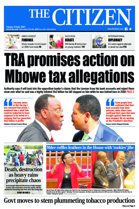 TRA PROMISES ACTION ON MBOWE TAX ALLEGATIONS