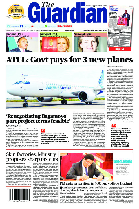 ATCL: Govt pays for 3 new planes | The Guardian