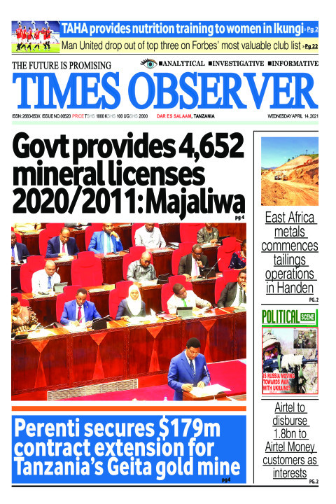 Govt provides 4,652 mineral licenses 2020/2011: Majaliwa | Times Observer