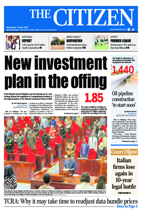 NEW INVESTMENT PLAN IN THE OFFING  | The Citizen