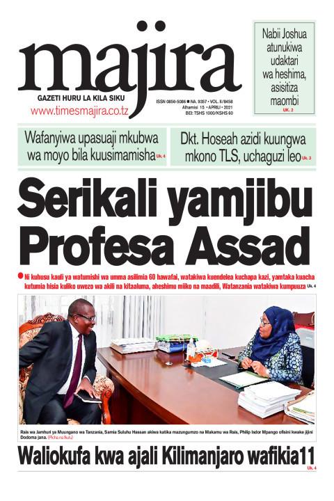 Serikali yamjibu Profesa Assad   MAJIRA
