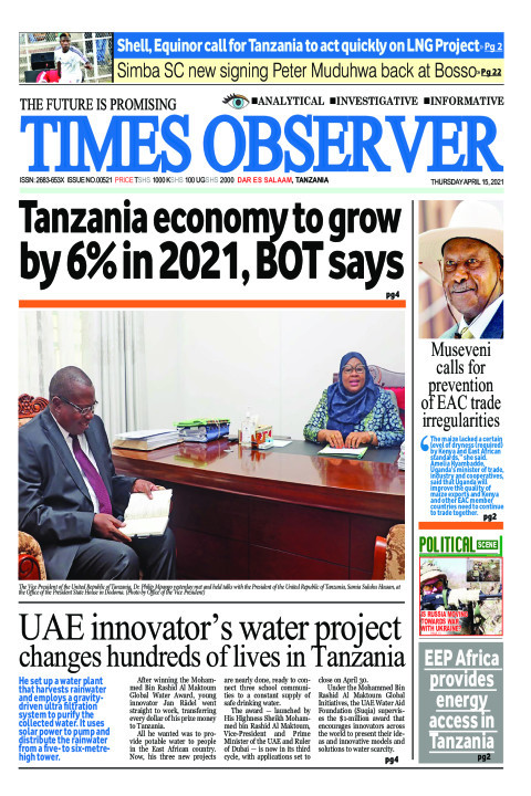 Tanzania economy to grow by 6% in 2021, BOT says | Times Observer