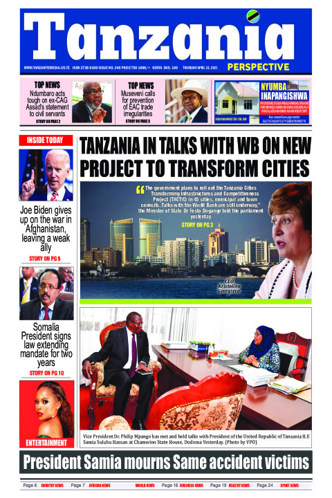 anzania in talks with WB on new project to transform cities | Tanzania Perspective