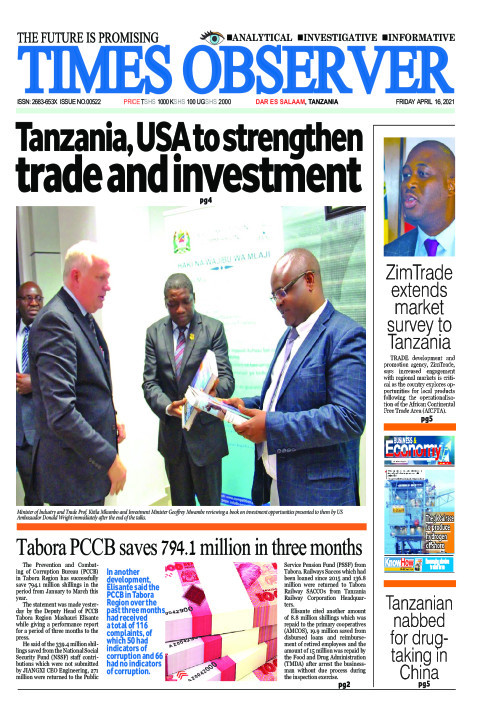 Tanzania, USA to strengthen trade and investment | Times Observer
