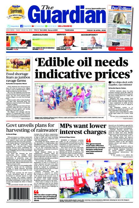 'Edible oil needs indicative prices' | The Guardian