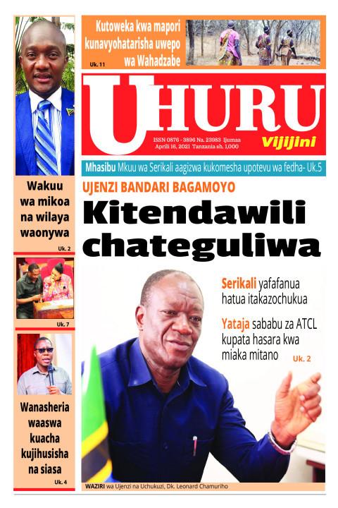 Kitendawili chateguliwa | Uhuru