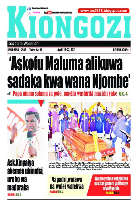 'Askofu Maluma alikuwa sadaka kwa wana Njombe' | Kiongozi