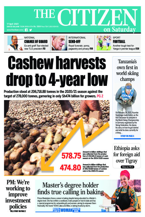 CASHEW HARVESTS DROP TO 4-YEAR LOW  | The Citizen