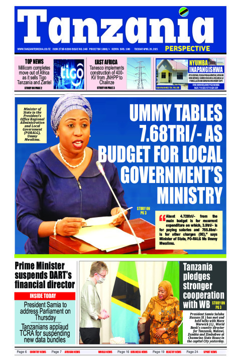 Ummy tables 7.68tri/- as budget for local government's minis | Tanzania Perspective