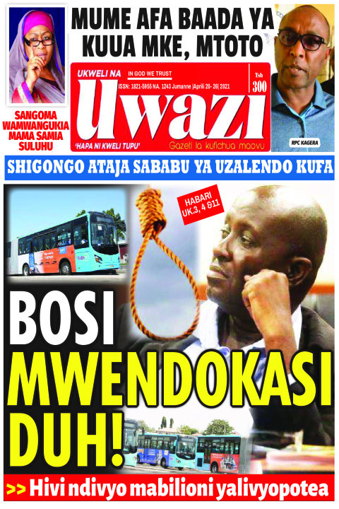 BOSI MWENDOKASI DUH! | Uwazi