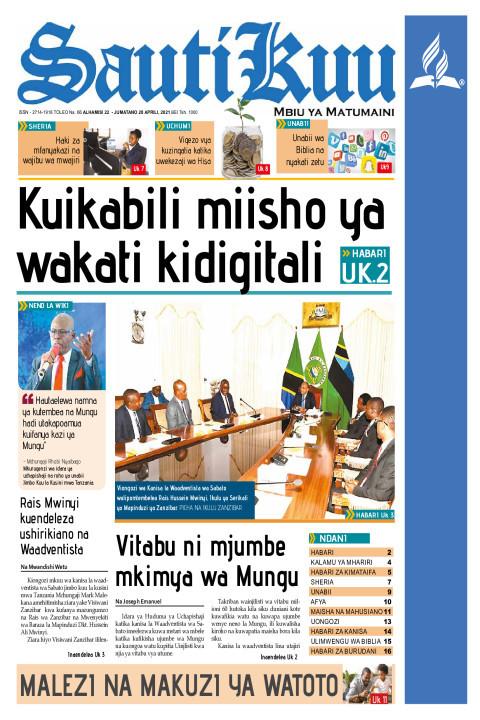 KUIKABILI MIISHO YA WAKATI KIDIGITALI | Sauti Kuu Newspaper