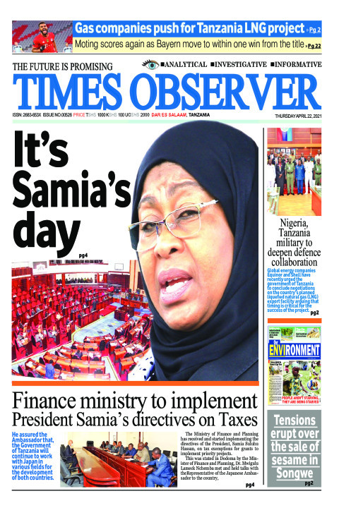 It's Samia's day | Times Observer