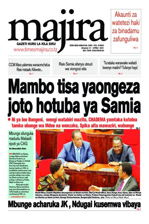 Mambo tisa yaongeza joto hotuba ya Samia | MAJIRA