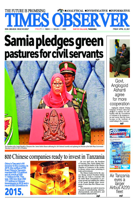 Samia pledges green pastures for civil servants | Times Observer