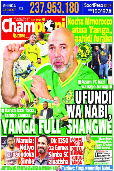 UFUNDI WA NABI, YANGA FULL SHANGWE | Championi Ijumaa