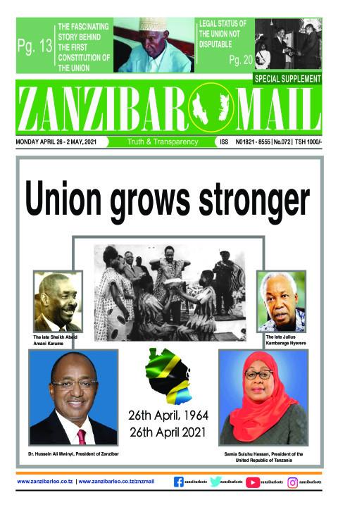 Union grows stronger | ZANZIBAR MAIL
