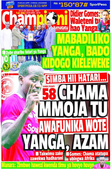 58 chama mmoja tu awafunika wote yangam azam | Champion Jumatatu