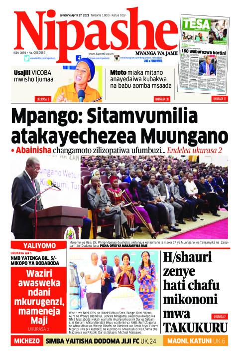 Mpango: Sitamvumilia atakaechezea Muungano | Nipashe