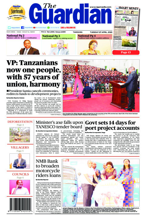 VP: Tanzanians now one people, with 57 years of union, harmo | The Guardian