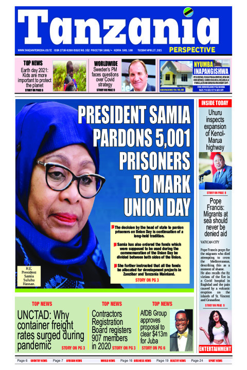 President Samia pardons 5,001 prisoners to mark union day | Tanzania Perspective