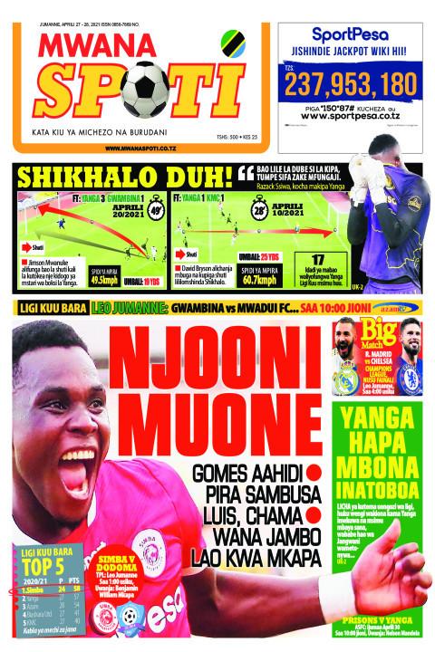 SHIKHALO DUH! NJOONI MUONE    Mwanaspoti