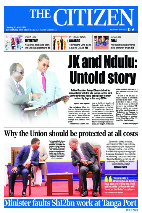 JK AND NDULU: UNTOLD STORY  | The Citizen