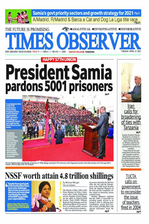 President Samia pardons 5001 prisoners | Times Observer