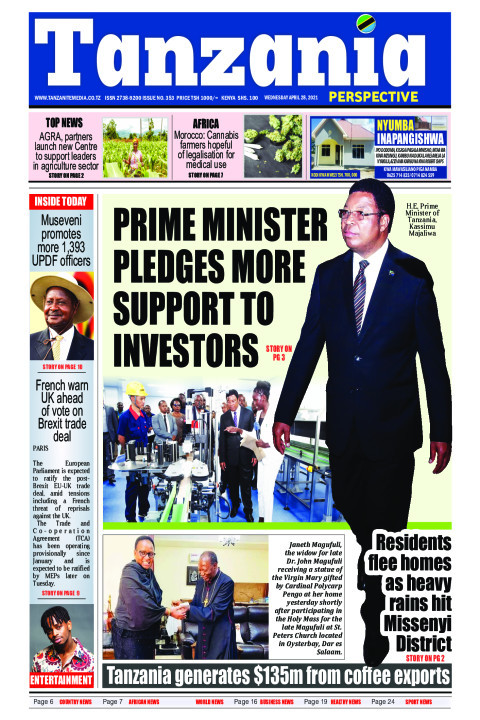 PRIME MINISTER PLEDGES MORE SUPPORT TO INVESTORS | Tanzania Perspective