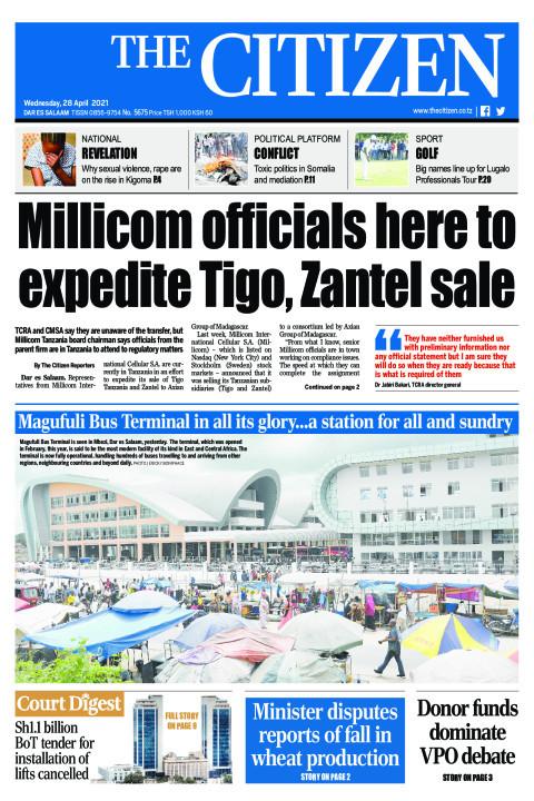MILLICOM OFFICIALS HERE TO EXPEDITE TIGO,ZANTEL SALE  | The Citizen