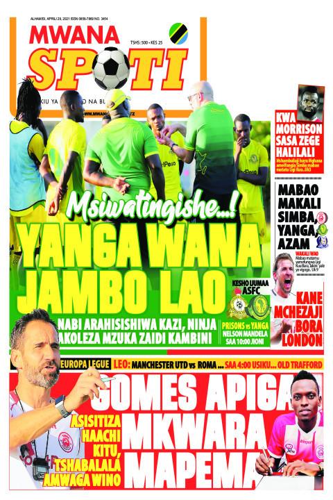 MSIWATINGISHE...! YANGA WANA JAMBO LAO    Mwanaspoti