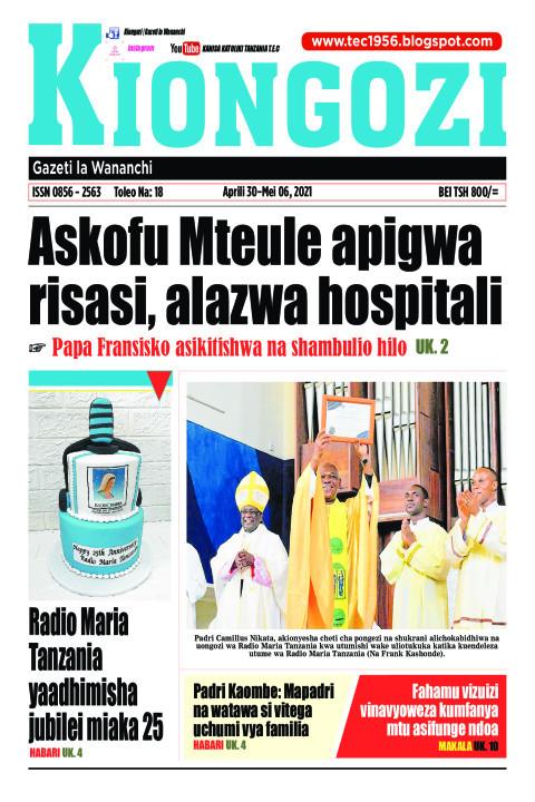 Askofu Mteule apigwa risasi, alazwa hospitali | Kiongozi