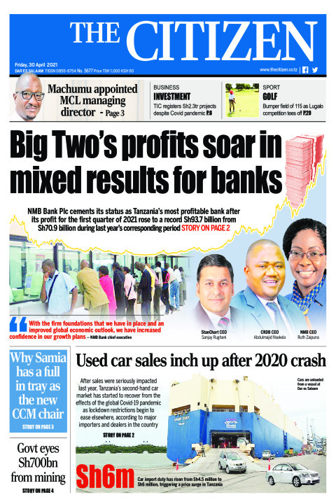 BIG TWO'S PROFITS SOAR IN MIXED RESULTS FOR BANKS  | The Citizen
