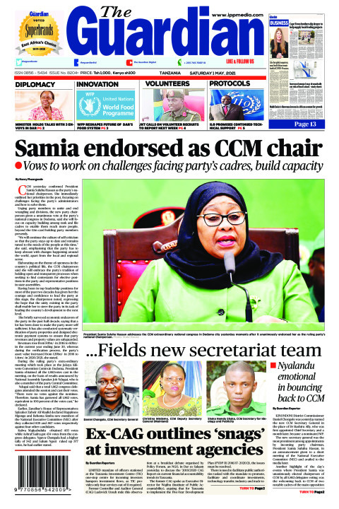 Samia endorsed as CCM chair | The Guardian