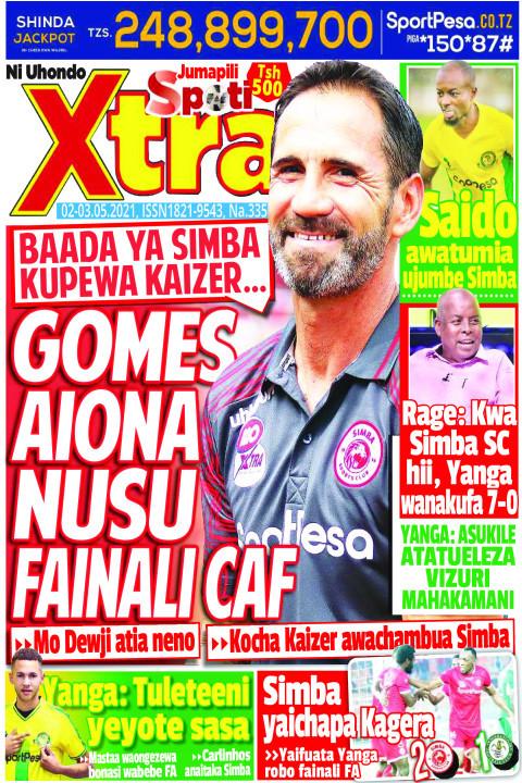 GOMES AIONA NUSU FAINALI  CAF | SpotiXtra Jumapili