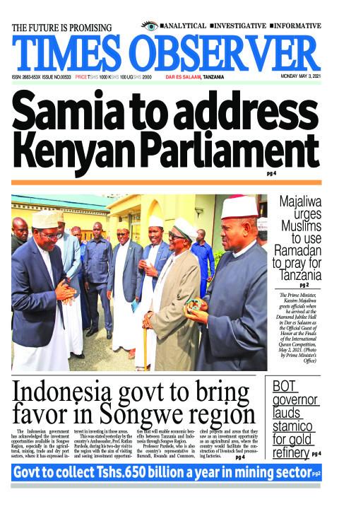 Samia to address Kenyan Parliament | Times Observer