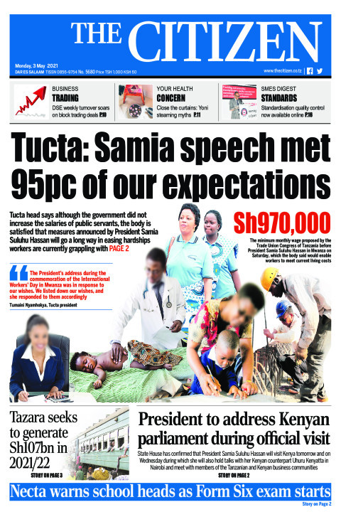 TUCTA: SAMIA SPEECH MET 95PC OF OUR EXPECTATIONS  | The Citizen