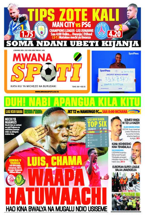 LUIS,CHAMA WAAPA HATUWAACHI  | Mwanaspoti
