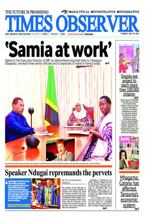 Samia at work | Times Observer