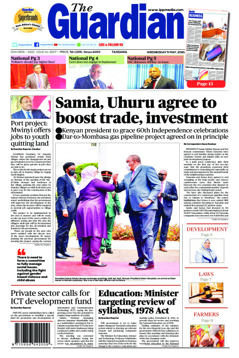 Samia, Uhuru agree to boost trade, investment | The Guardian