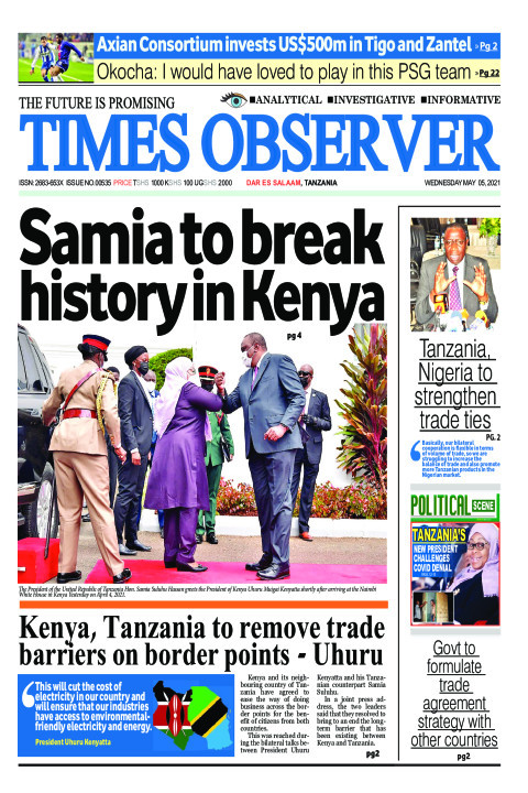Samia to break history in Kenya | Times Observer