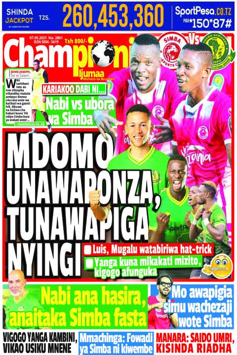 MDOMO UNAWAPONZA, TUNAWAPIGA NYINGI | Championi Ijumaa