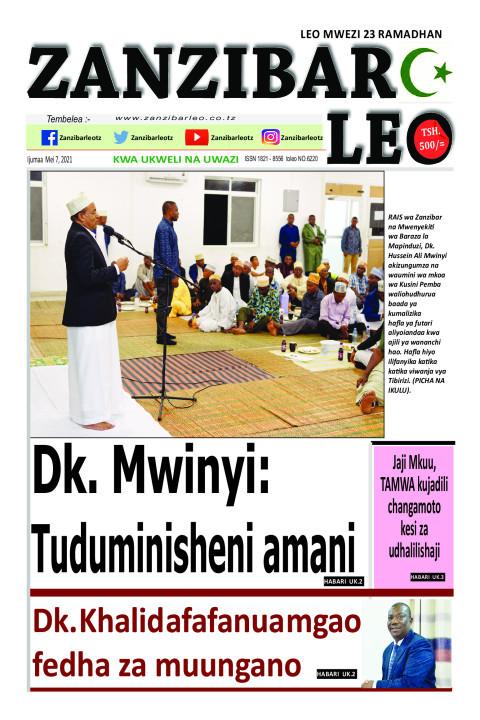 Dk. Mwinyi:Tuduminisheni amani | ZANZIBAR LEO
