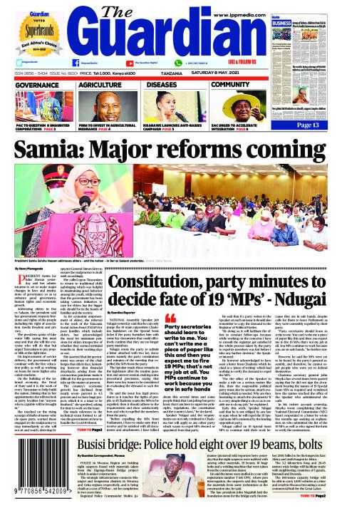 Samia: Major reforms coming | The Guardian