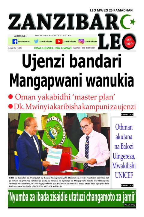 Ujenzi bandari Mangapwani wanukia | ZANZIBAR LEO